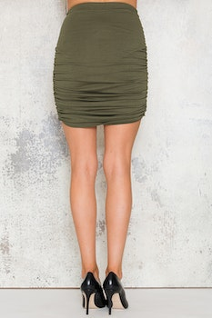 Indra Skirt - Army Green