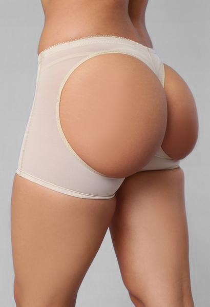 Butt Lifter Boy Shorts - Beige
