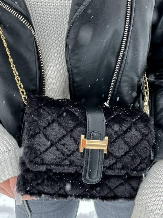 Black Shoulder Bag - Dino