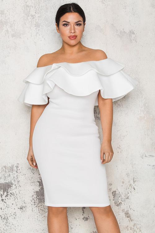 Stassy Dress - Vit