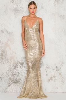 Geneva Maxi Dress - Guld