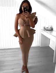 Adele Dress - Beige