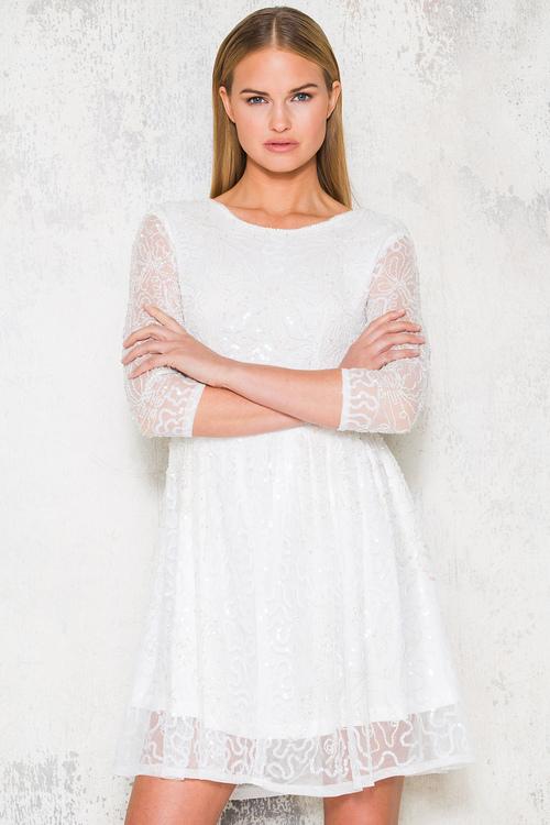 Mandy Dress - White