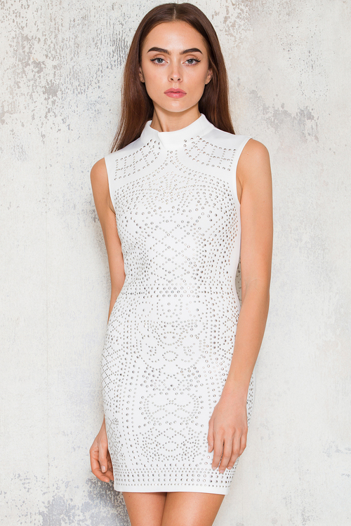 Sleeveless Gigi Dress - White