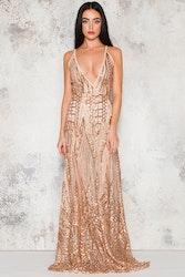 Silence Maxi Dress - Gold