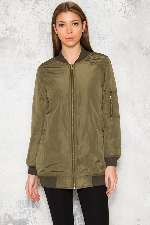 Long Bomba Jacket - Green