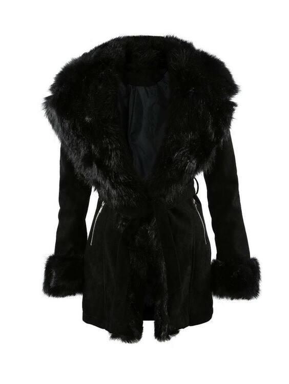 Black Dolce Fur Coat