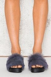 Fluffy Sandals - Grey