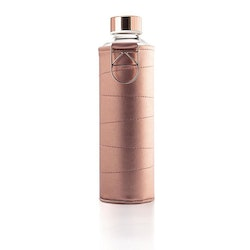 EQUA WATER BOTTLE - MISMATCH FAUX LEATHER BRONZE