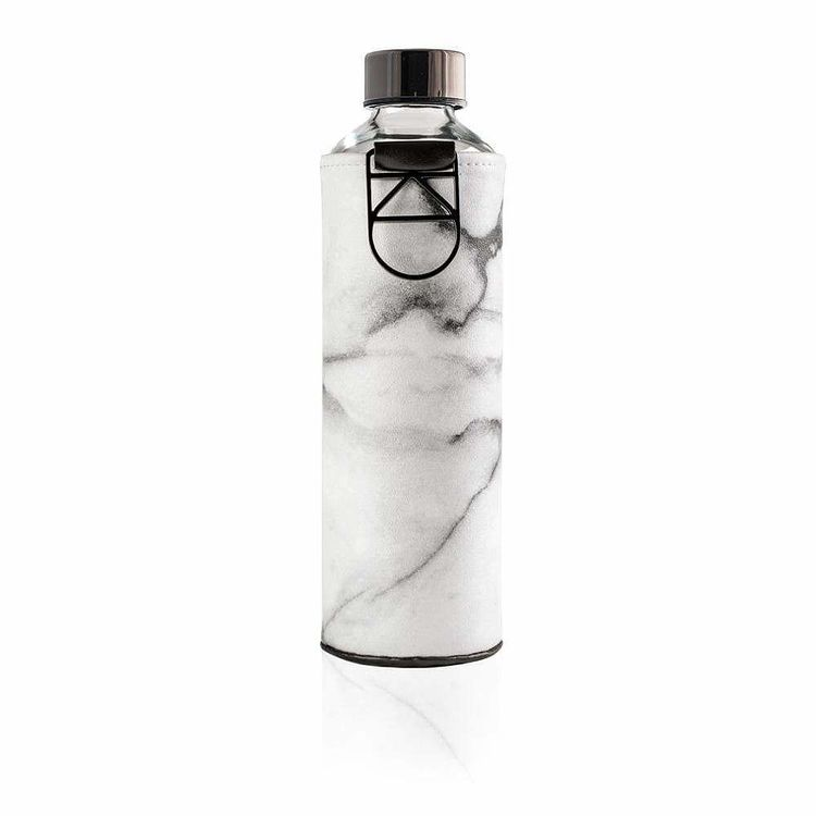EQUA WATER BOTTLE - MISMATCH FAUX LEATHER STONE