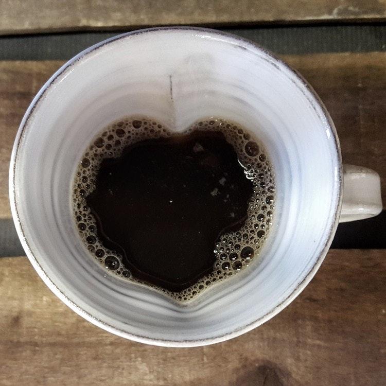 Hjärtmugg vit stor