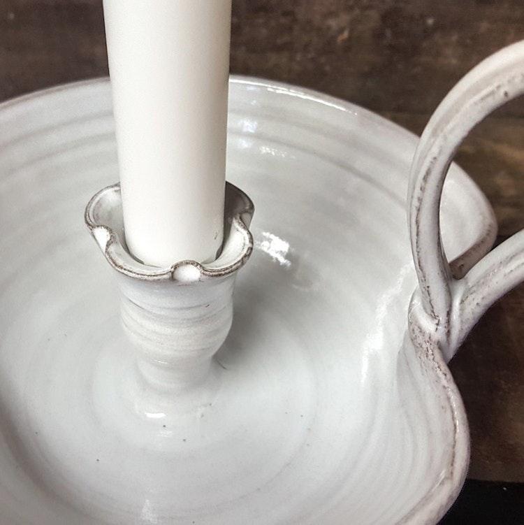 Kammarljusstake vit