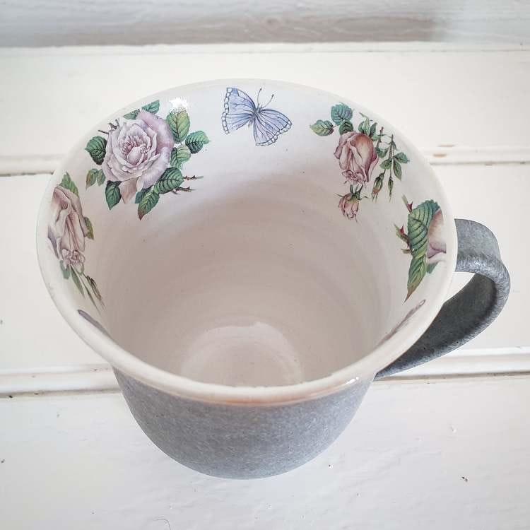 Kaffekopp, rosor dekaler