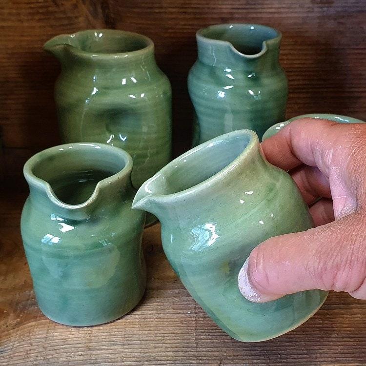 Mjölkkanna grön liten