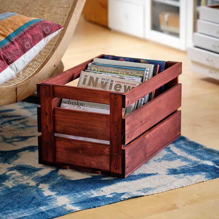 En träback eller äppellåda du gör på egen hand med material och instruktion från oss.
