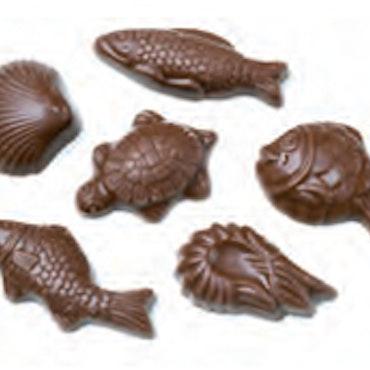 Choklad Sjöfrukter lösvikt 100g