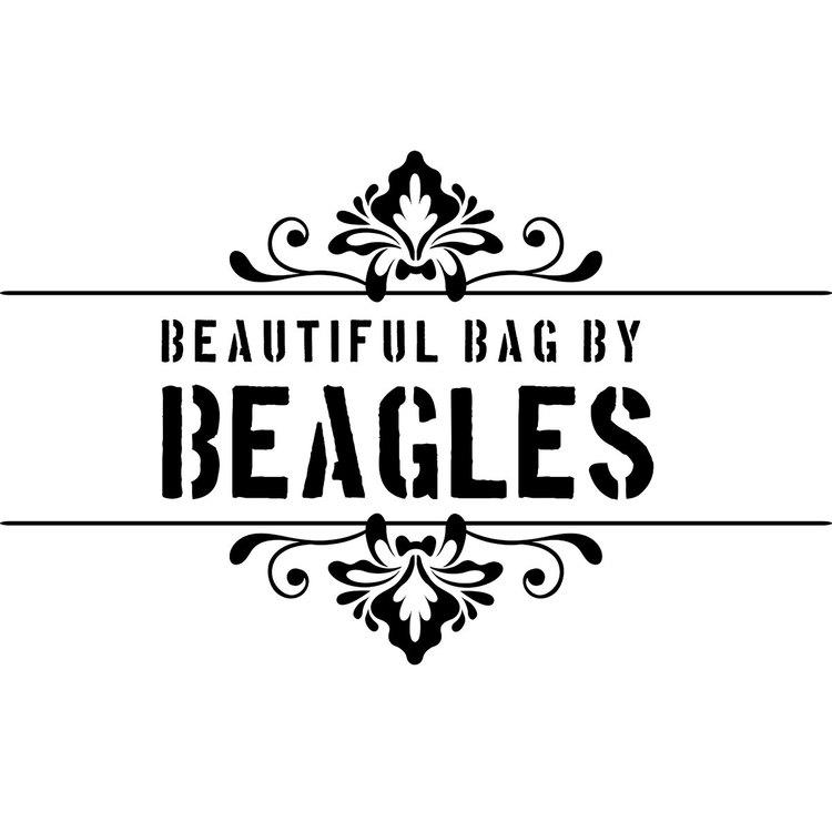 Axelväska lock beige konstskinn Beagles DU16076