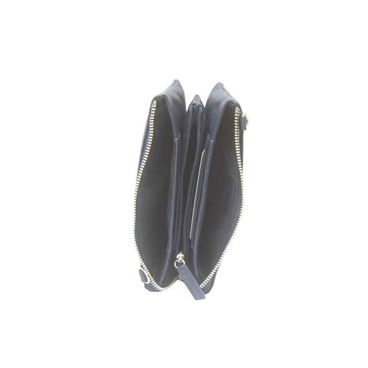 Axelväska börs skinn svart SAC 6319210