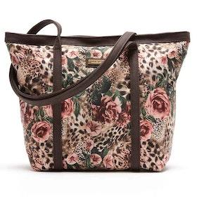Shoppingväska Donatella leopard o blommig JJDK