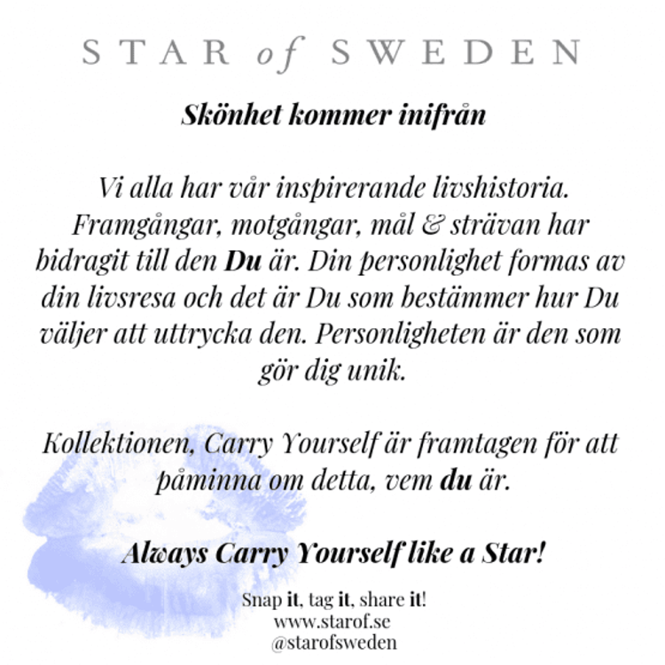 Star of Sweden ring i guld med blå sten