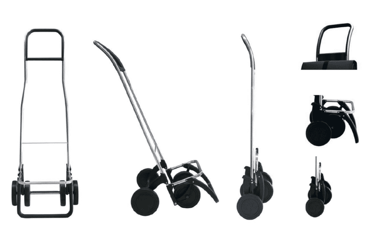 Shoppingvagn Rolser 2+2 MF mörk gråblå