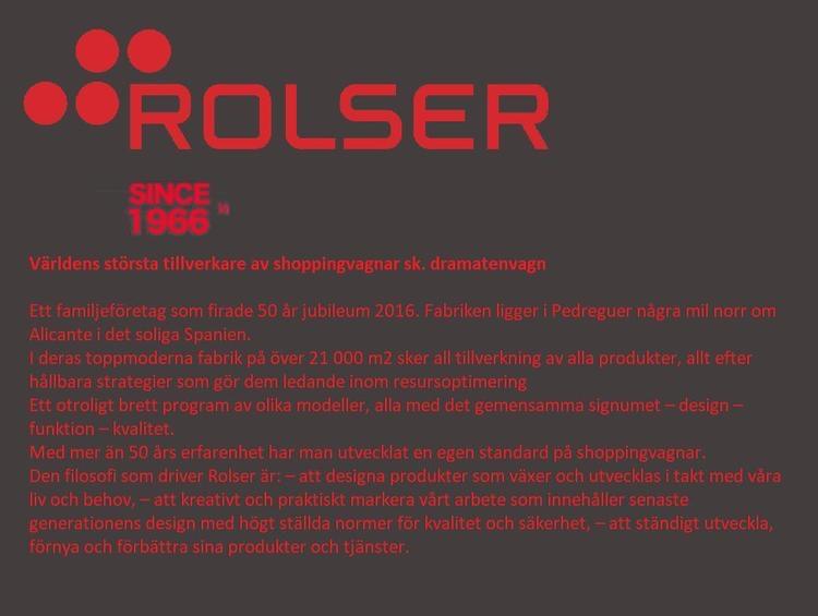 Shoppingvagn Rolser Dramaten Dramatenvagn Tweed Rosa