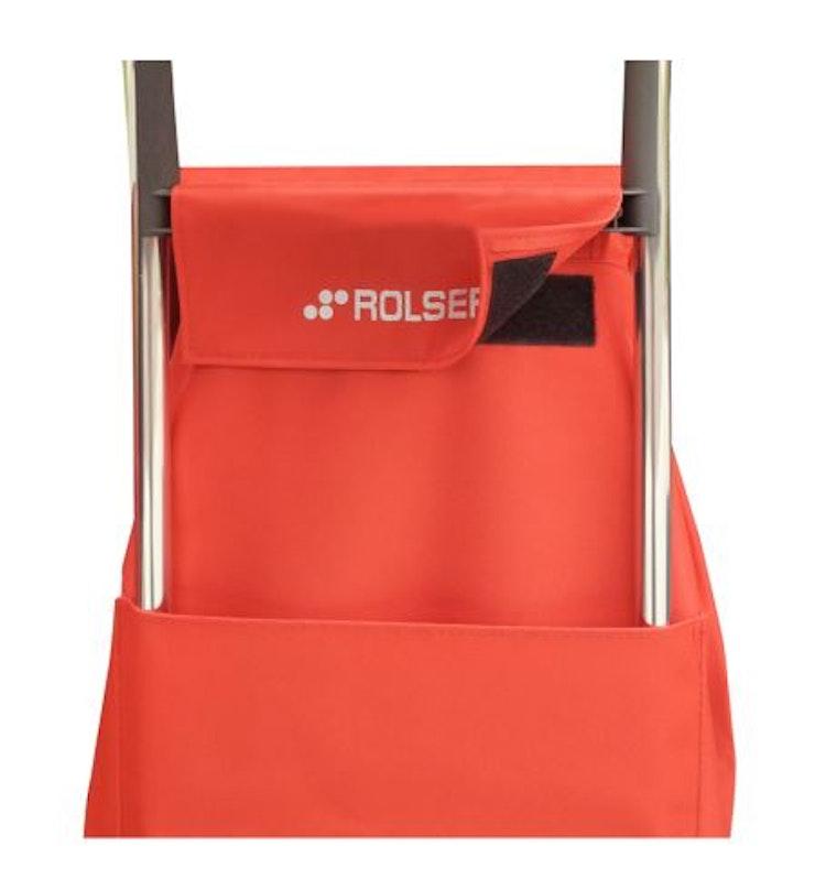 Shoppingvagn från Rolser enkel och billig modell med väska i färg aprikos