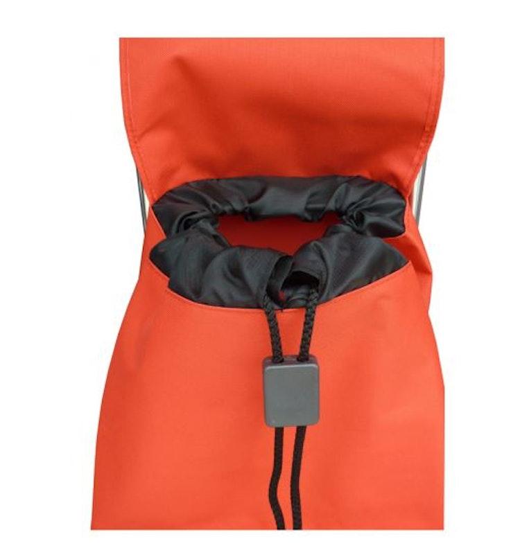 Shoppingvagn från Rolser prisvärd modell Joy väska i tyget LN i färg aprikos