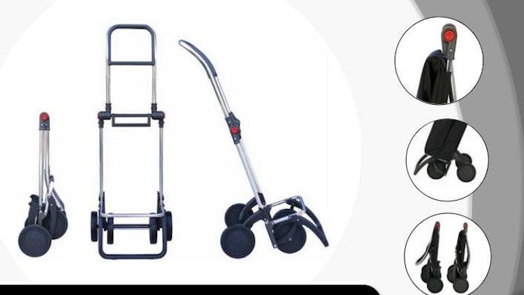 Shoppingvagn Rolser 2 eller 4 hjul Logic MF kakigrön