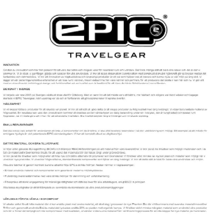 Epic Travelgear Dramaten väska