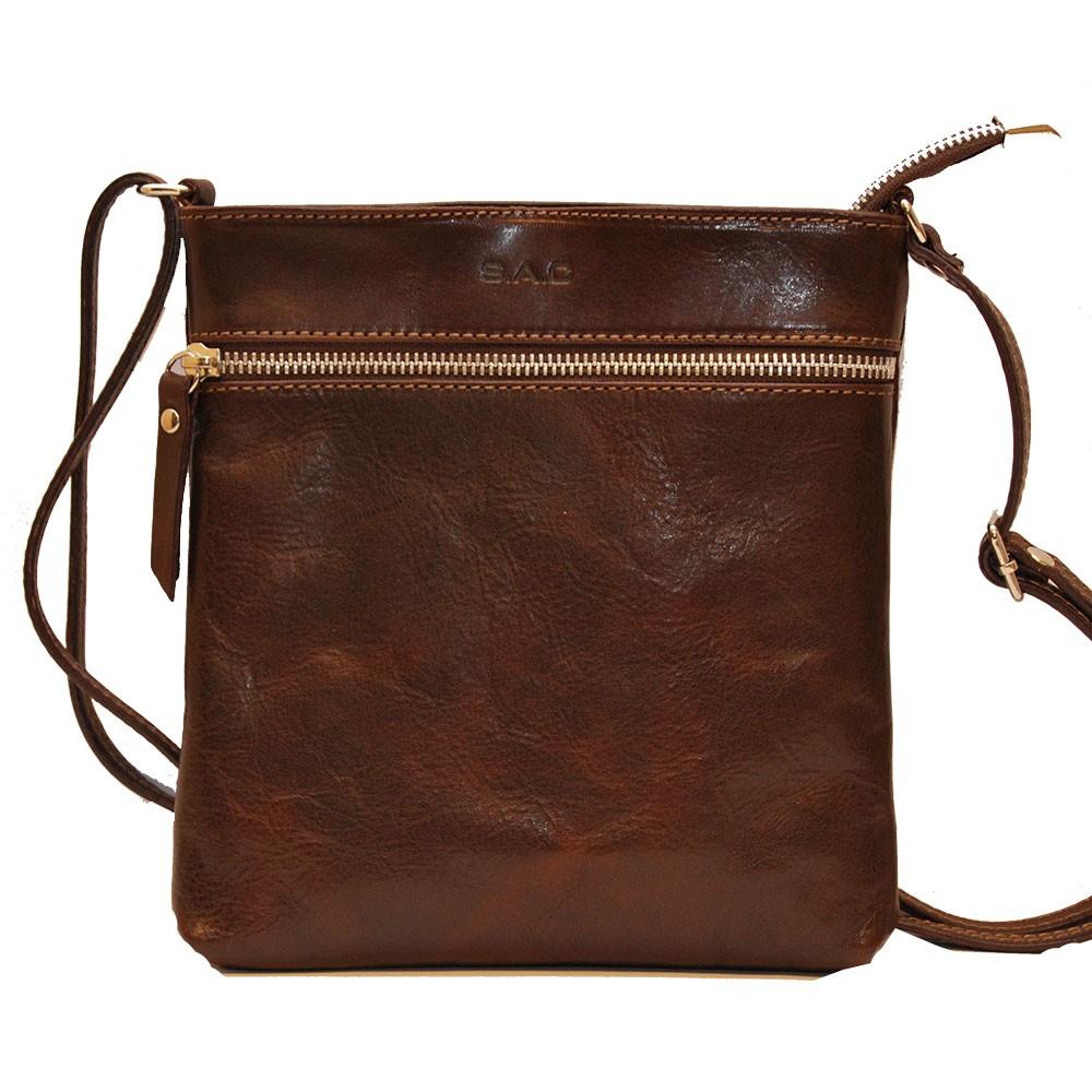 Axelväska skinn brun SAC 4115020