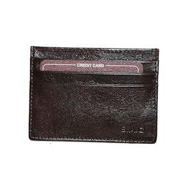 Kortfodral italienskt skinn brun SAC 6315120