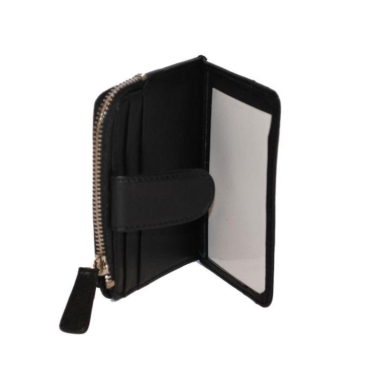 Kortfodral med myntfack skinn svart SAC 6600510