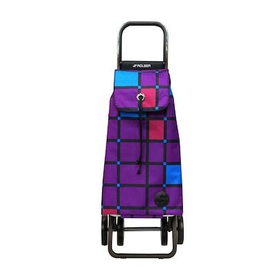 Shoppingvagn Rolser 2+2 Logic Cuadro lila