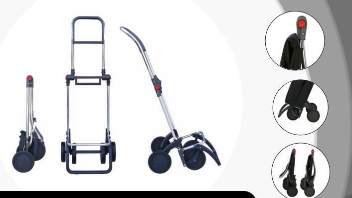 Shoppingvagn Rolser 2+2 Logic Cuadro vit