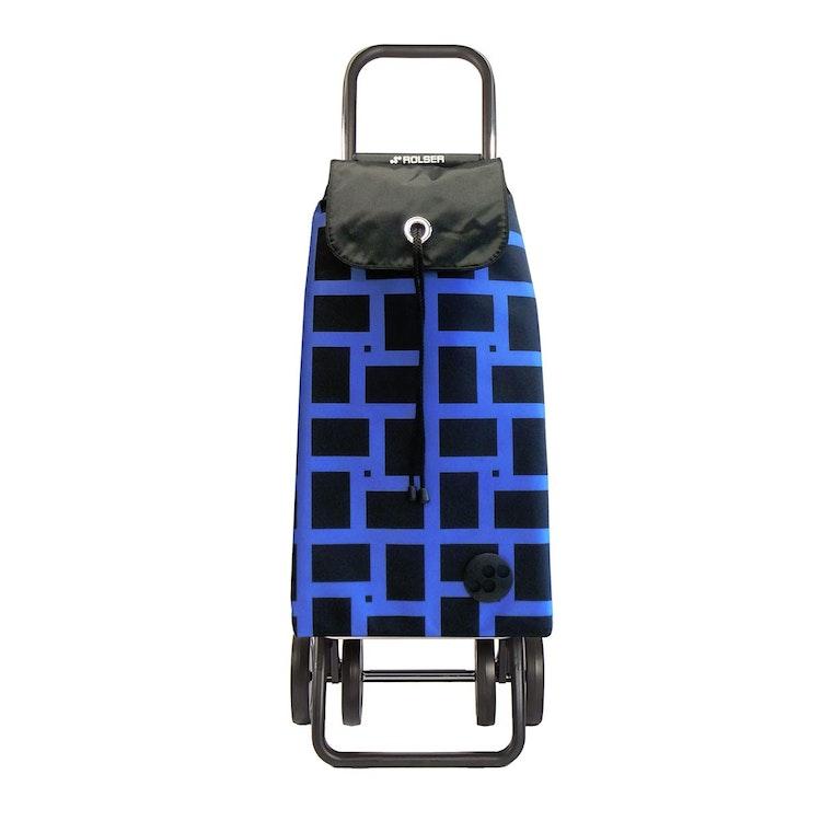 Shoppingvagn Rolser 2+2 Logic Geometric blå Shoppingvagn Rolser Dramaten Dramatenvagn pris billig dramatenväska för shopping shoppingkärra