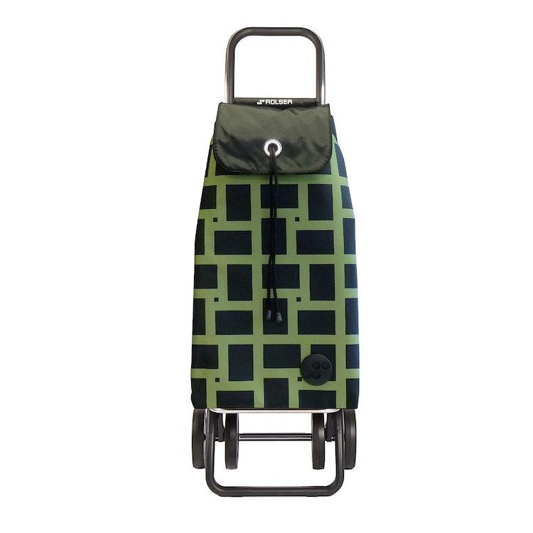Shoppingvagn Rolser 2+2 Logic Geometric grön Shoppingvagn Rolser Dramaten Dramatenvagn pris billig dramatenväska för shopping shoppingkärra