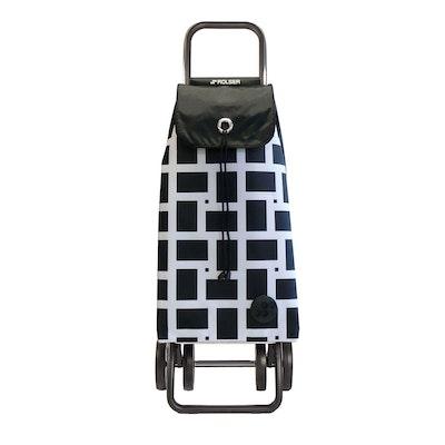 Shoppingvagn Rolser 2+2 Logic Geometric vit