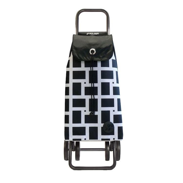 Shoppingvagn Rolser 2+2 Logic Geometric vit Shoppingvagn Rolser Dramaten Dramatenvagn pris billig dramatenväska för shopping shoppingkärra