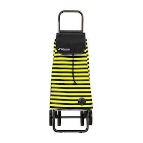 Shoppingvagn Rolser 2+2 Logic Marina gul svartrandig