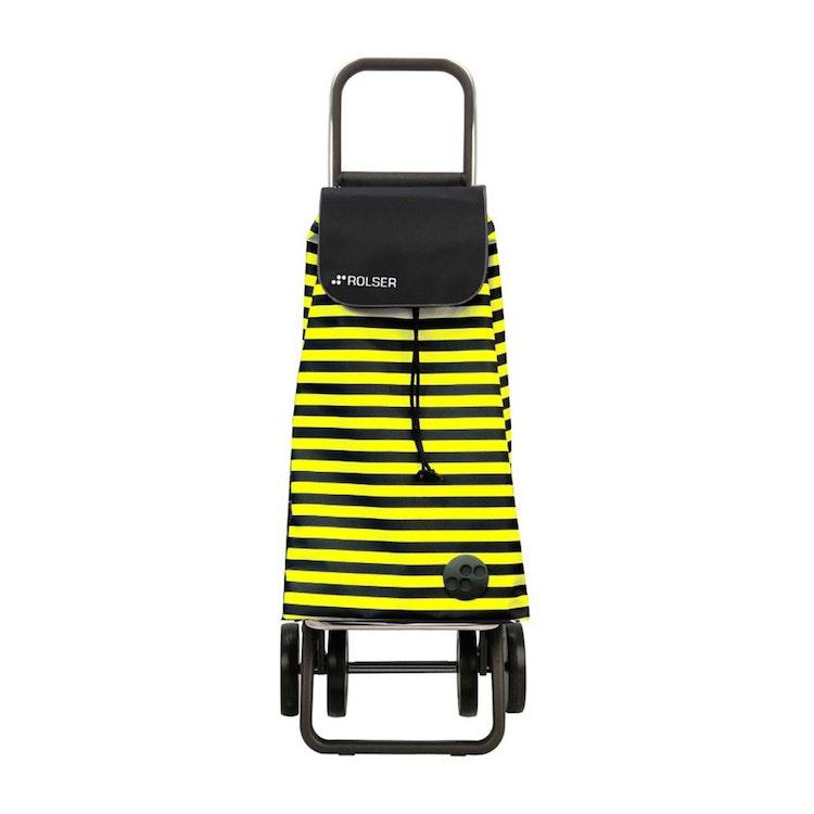 Shoppingvagn Rolser 2+2 Logic Marina gul svartrandig Shoppingvagn Rolser Dramaten Dramatenvagn pris billig