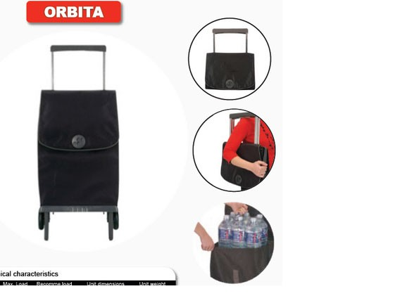 Shoppingvagn Rolser Plegamatic Gloria lila