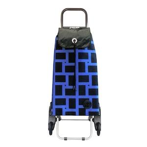 Shoppingvagn Rolser RD6 Geometric blå svart