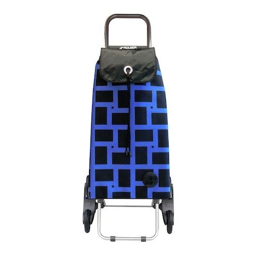 Shoppingvagn Rolser RD6 Logic Imax Geometric blå svart