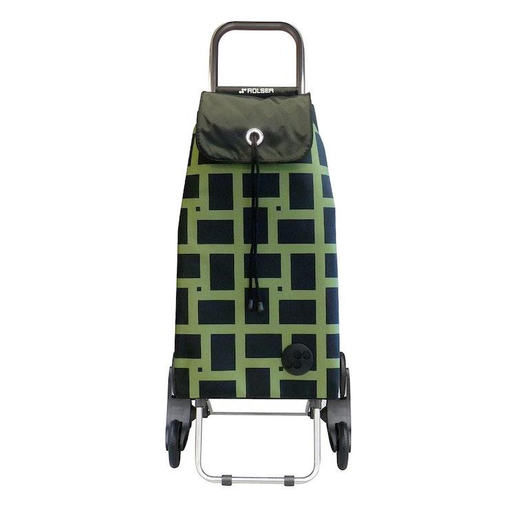 Shoppingvagn Rolser RD6 Geometric grön svart