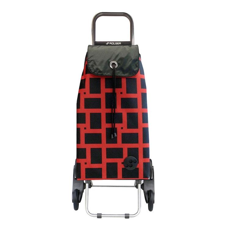 Shoppingvagn Rolser RD6 Geometric röd svart