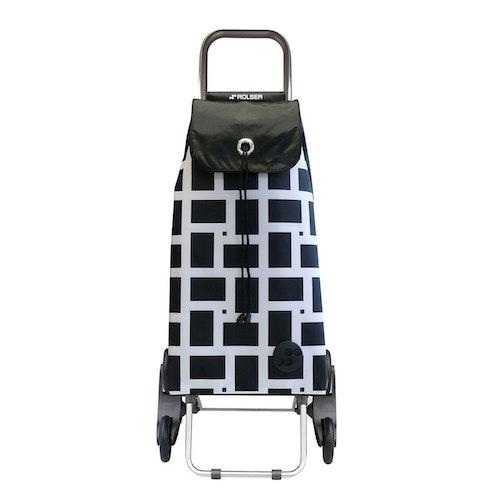 Shoppingvagn Rolser RD6 Logic Imax Geometric vit svart