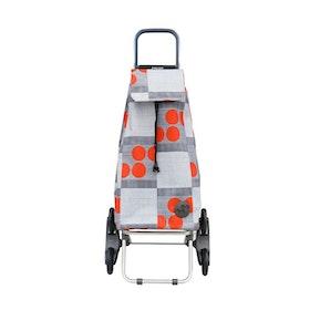 Shoppingvagn Rolser RD6 Imax Logos röd grå