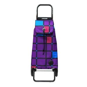 Shoppingvagn Rolser RG Logic Cuadro lila