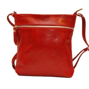 Axelväska skinn röd SAC 4115037